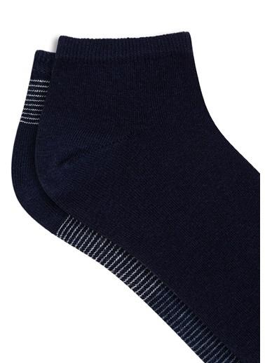 Mavi 2Li Patik Çorap Seti Lacivert